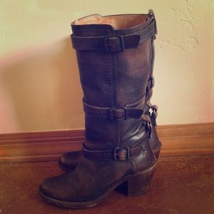 Frye Jane Strap tall boots. In excellent condition